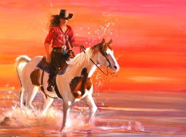 Ride at Sunset | Southwest Art Gallery Tucson | Madaras