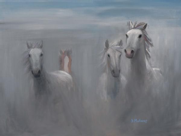 Horses in the Mist | Southwest Art Gallery Tucson | Madaras