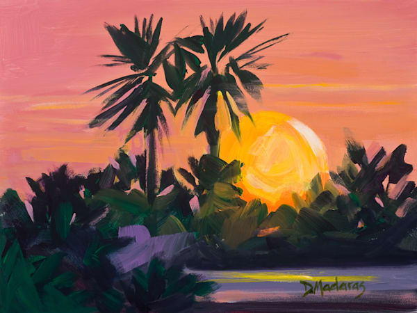 Palms at Sunset | Southwest Art Gallery Tucson | Madaras