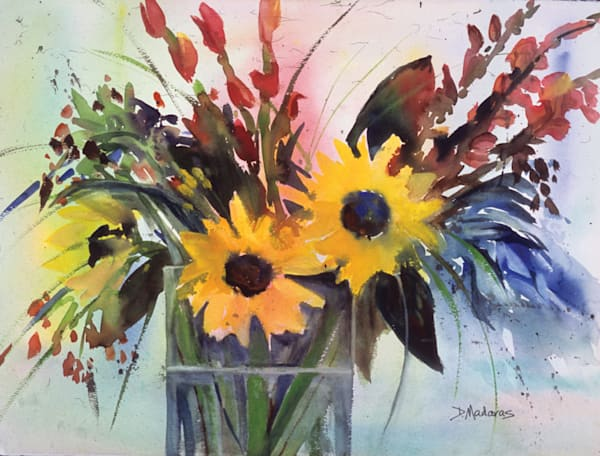 Sunflowers at the Villa | Southwest Art Gallery Tucson
