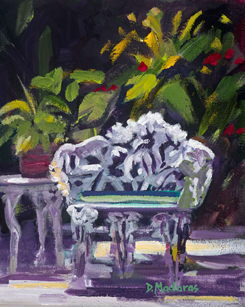Hemingway's Garden Chair | Southwest Art Gallery Tucson