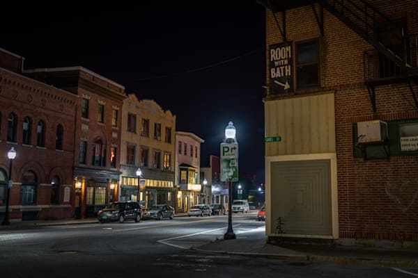 Photography, Vermont, nocturne,White River Junction