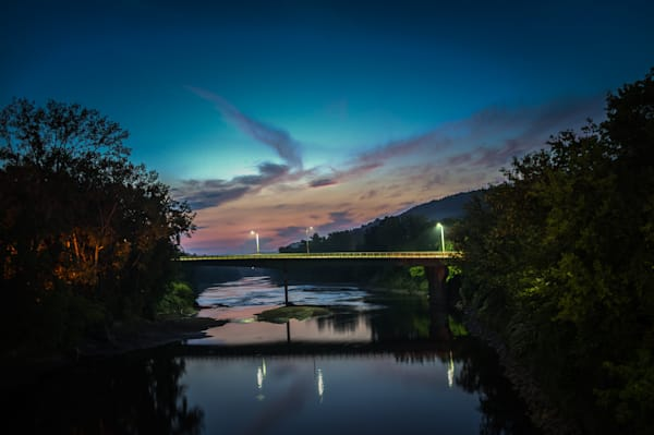 White River Junction,Photography, Vermont, nocturne