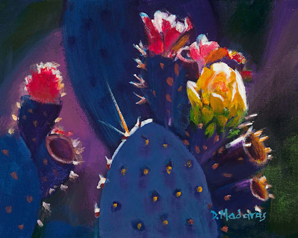 Blue Prickly Pear | Southwest Art Gallery Tucson | Madaras