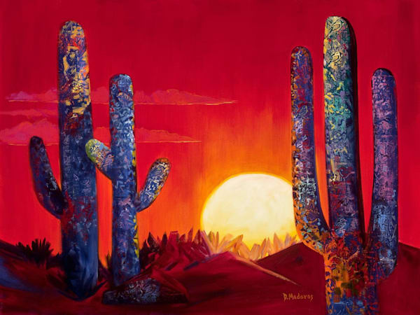 Birds in the Saguaro | Southwest Art Gallery Tucson | Madaras