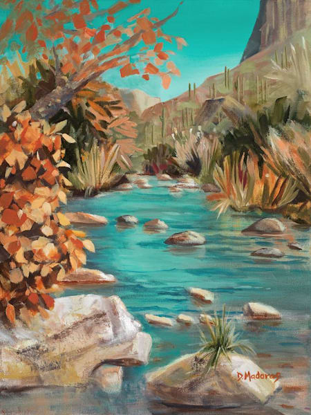 Late Fall in Sabino | Southwest Art Gallery Tucson | Madaras