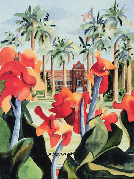 Flowers at Old Main | Southwest Art Gallery Tucson | Madaras