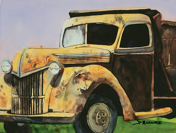 Once Yellow Truck | Southwest Art Gallery Tucson | Madaras