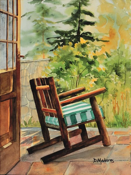 Chair at the Cabin | Southwest Art Gallery Tucson | Madaras