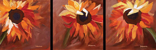 Sunflowers Triptych | Southwest Art Gallery Tucson | Madaras