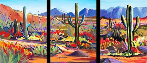 Red Mile Triptych | Southwest Art Gallery Tucson