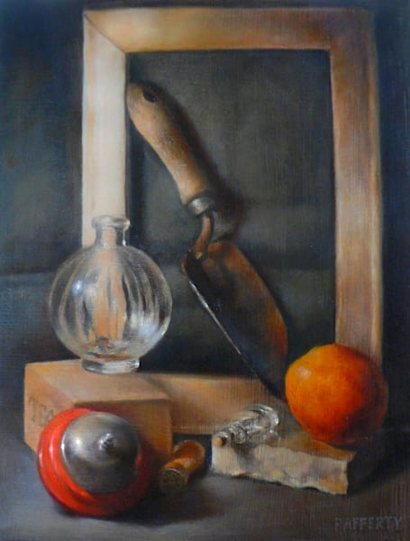 Still Life with Red Bell & Orange