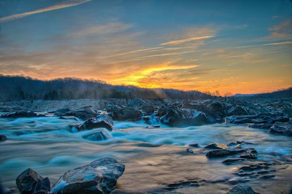 Great Falls Sunrise Fine Art Photograph | JustBob Images
