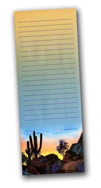 Silhouette | Tucson Saguro | Desert | Notepad