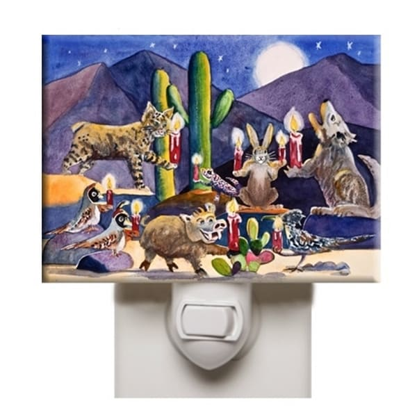 Night Light with Desert Animals