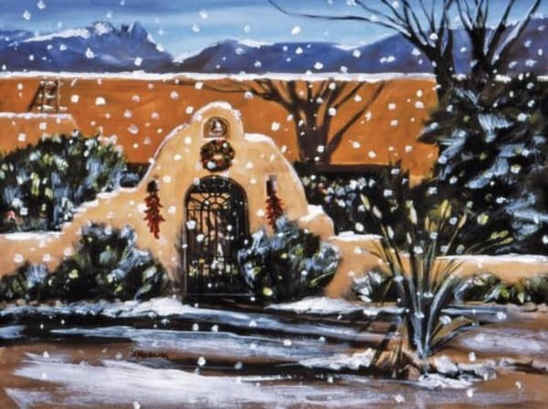 Territorial Holiday Card | Southwest Art Gallery Tucson