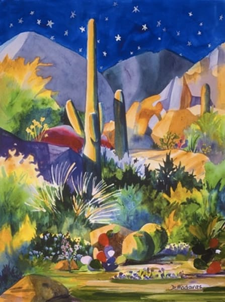 Boulders Holiday Card | Southwest Art Gallery Tucson