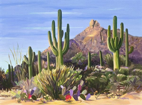 First Light Holiday Card | Southwest Art Gallery Tucson
