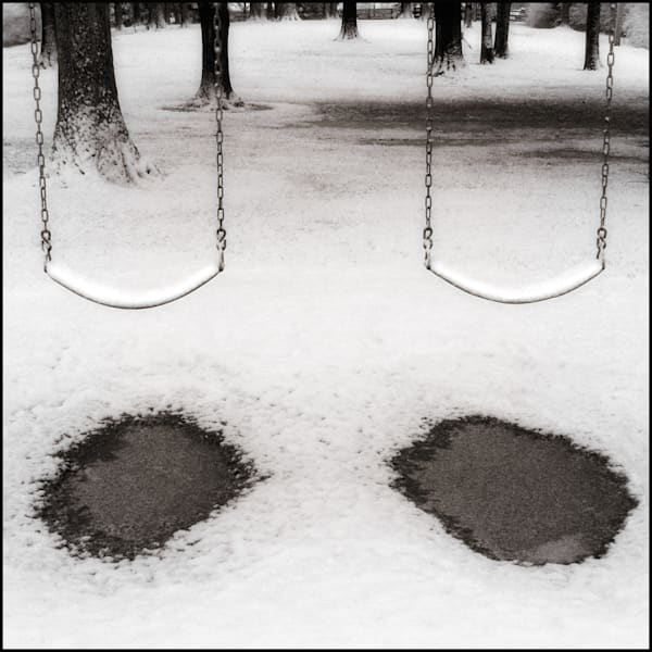 Two Swings in Snow