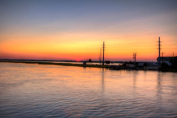 Fine Art Photographs of Chincoteague Sunset by Michael Pucciarelli