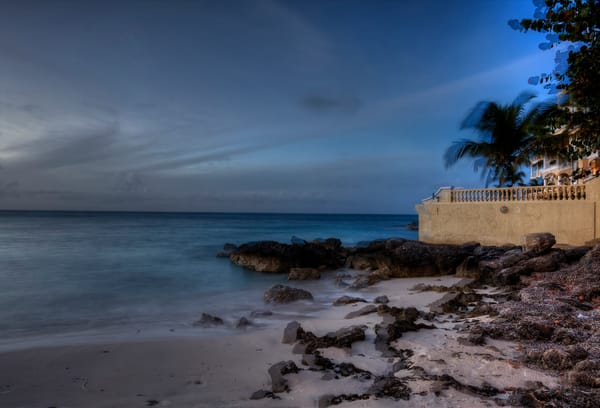 Fine Art Photographs of Rocky Sandy Shores of Nassau - Bahamas by Michael Pucciarelli