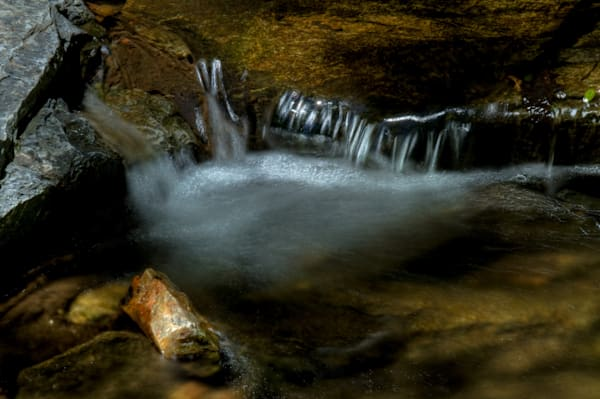 A Fine Art Photograph of Sligo Creek Waterfalls by Michael Pucciarelli