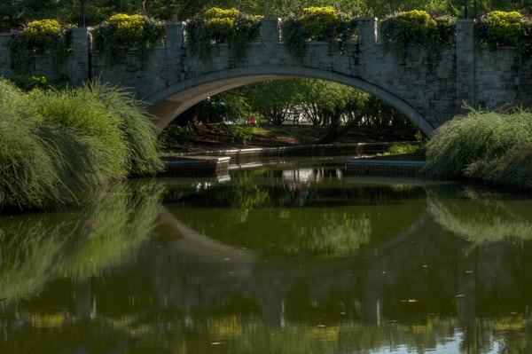 Norfolk Bridge Reflections Fine Art Photographs by Michael Pucciarelli