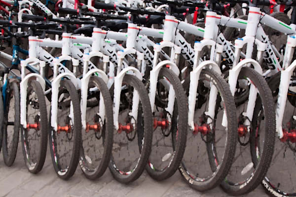 Bicycles abstract