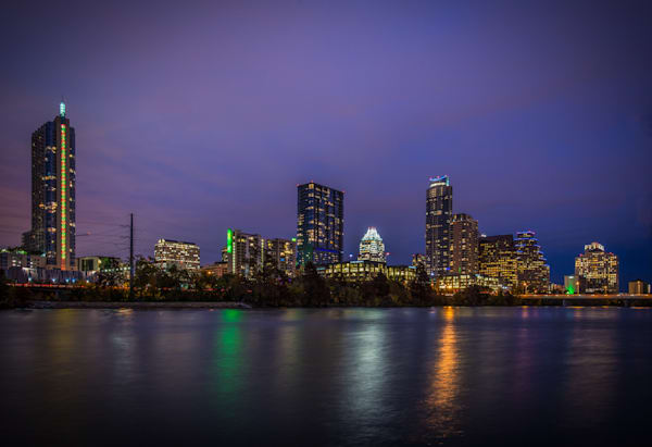 Austin Skyline at Night Fine Art Photograph | JustBob Images