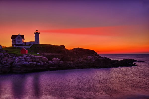 Nubble Lighthouse at Sunrise Fine Art Photograph | JustBob Images