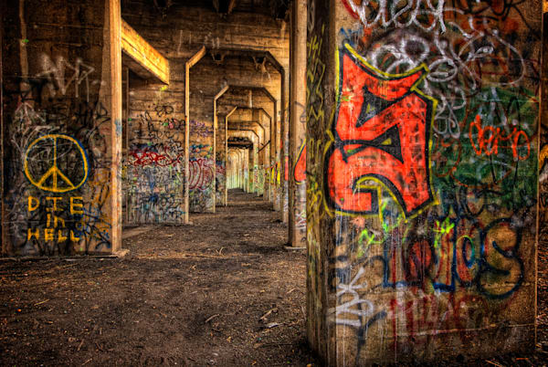 Graffiti Underground #4 Fine Art Photograph | JustBob Images