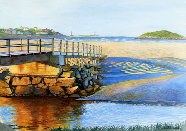 Good Harbor Footbridge Art | capeanngiclee