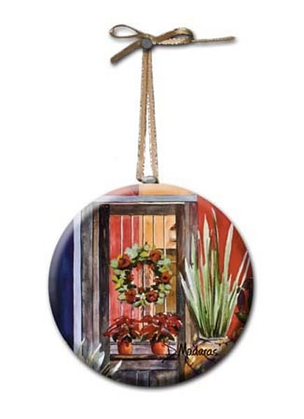 Barrio Holiday Round Glass Ornament