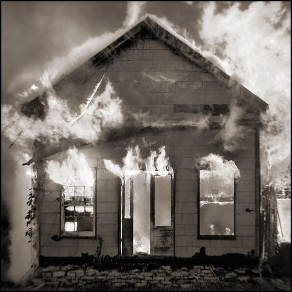 Burning Building Photography Art by Tom McFarlane Photography