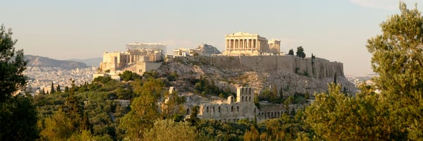 Acropolis from Monument of Filopappos - Greece