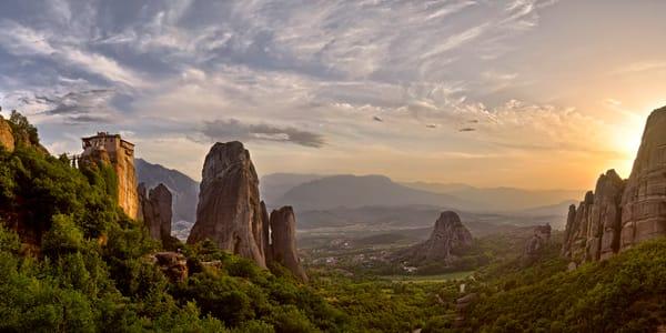 Sunset Rousanou Monastery - Meteora - Greece