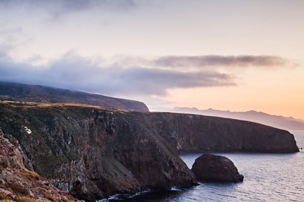 Santa Cruz Island Coast At Sunset Photograph for Sale as Fine Art
