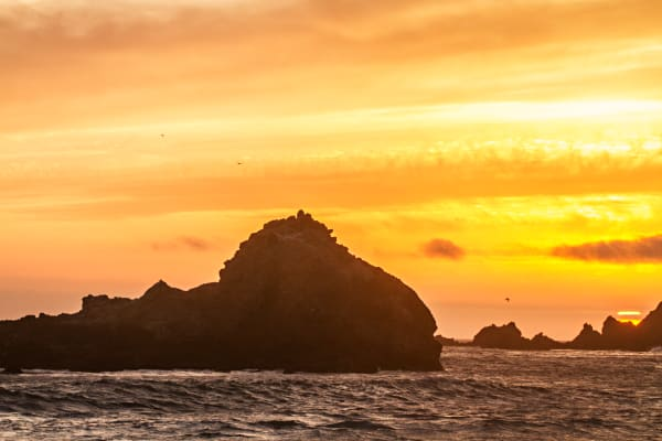 Rocky Sunset At Pfeiffer Beach Photograph for Sale as Fine Art