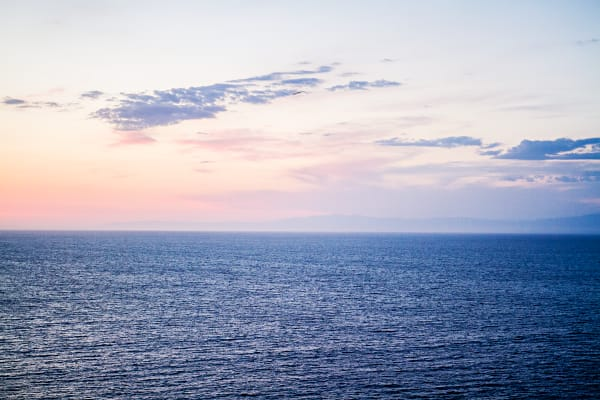Pink And Blue Pacific Ocean Sunset Photograph for Sale as Fine Art