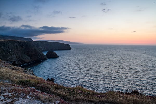 Santa Cruz Island Coastal Seascape At Dusk Photograph for Sale as Fine Art