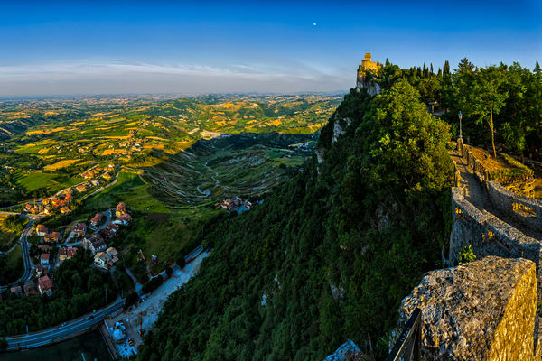 Tower and Valley - San Marino - Italy