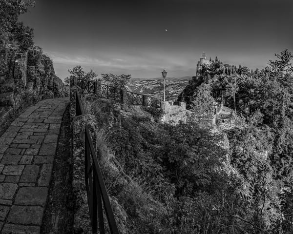 Path to the Tower - San Marino - Italy B&W