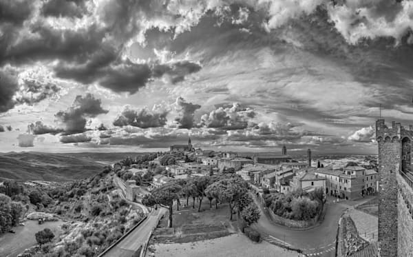 From the Castle - Montalcino - Italy B&W