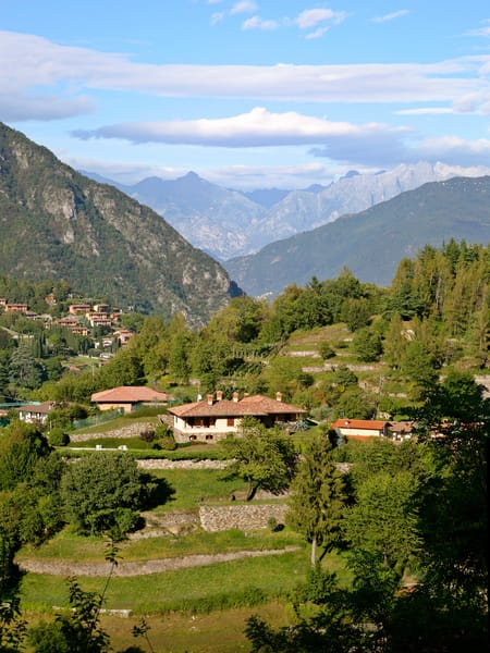 Menaggio and Alps - Italy