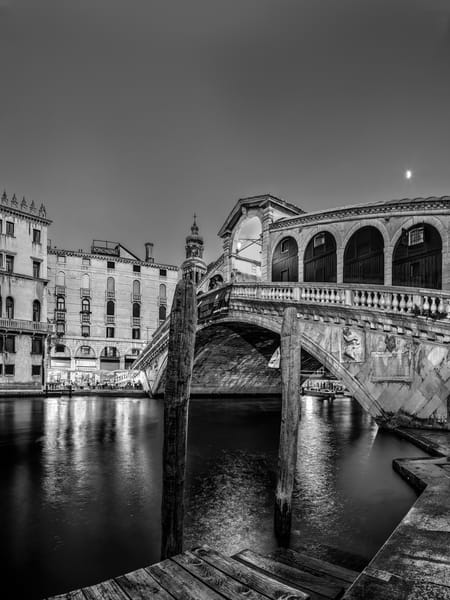 Rialto Bridge - Venice - Italy B&W