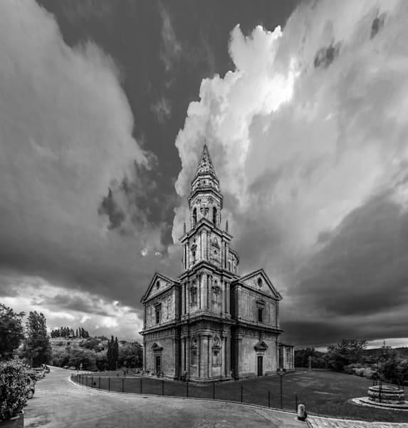 San Biago Church - Montepulciano - Italy B&W