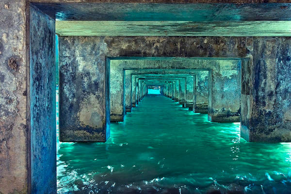 Beneath the Hanalei Pier | Kauai fine art photography, Hawaii
