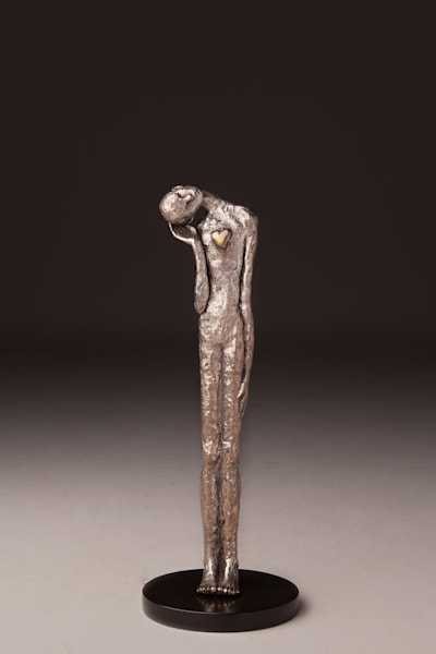 """Listen To Your Heart"" Limited edition Prophetic art bronze sculptures by Avril Ward 