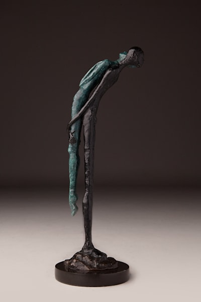 """Brother's Keeper"" Limited edition Prophetic art bronze sculpture by Avril Ward 