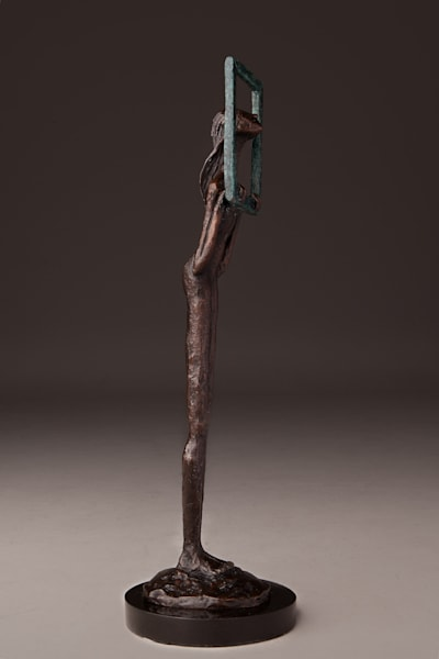 Limited edition Prophetic art sculptures in bronze by Avril Ward at Prophetics Gallery.